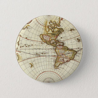 Antique World Map, c. 1680. By Frederick de Wit Pinback Button