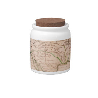 Antique World Map Candy Dish