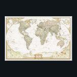 """Antique World map canvas wrap print<br><div class=""""desc""""></div>"""