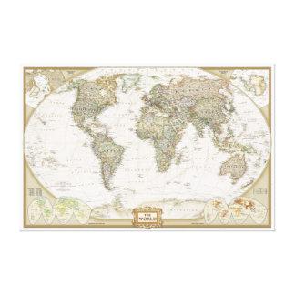 Antique World map canvas wrap print