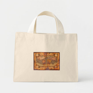 Antique World Map Carrry Bag