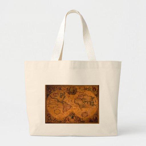 Antique World Map Carry Bag