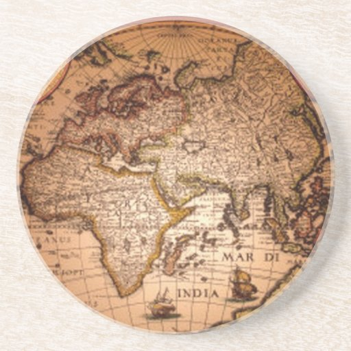 Antique World Map Classic Earth Gift Coaster