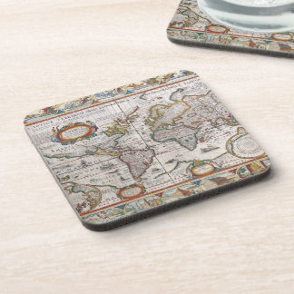 Antique World Map coasters