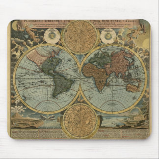 Antique World Map Collection Mouse Pad