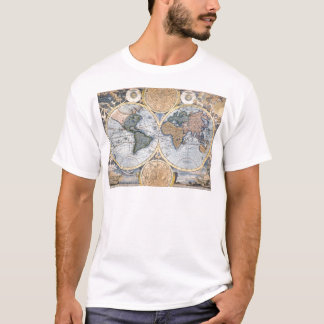 Antique world map cool T-Shirt