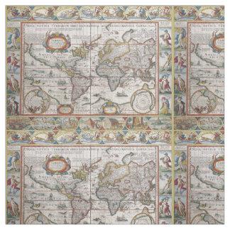 Vintage world map fabric zazzle antique world map custom fabric gumiabroncs Gallery