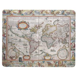 Antique World Map custom journal