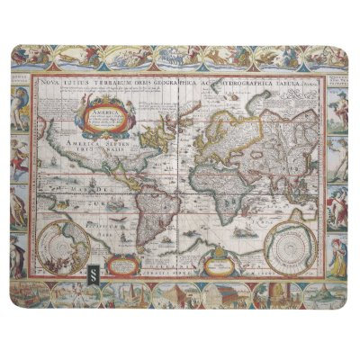 Vintage world map personalized note journal zazzle gumiabroncs Gallery
