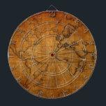 "Antique World Map Dartboard<br><div class=""desc"">Antique World Map</div>"