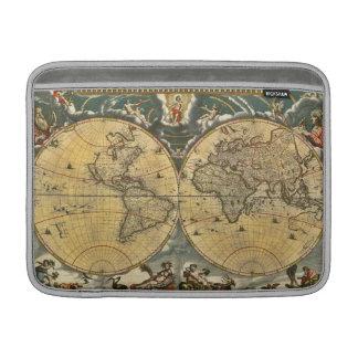 Antique World Map Distressed #2 MacBook Sleeve