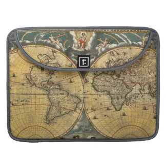 Antique World Map Distressed #2 MacBook Pro Sleeve
