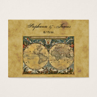 Antique World Map Distressed #2 Place Cards
