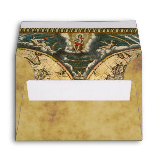 Antique World Map Distressed BG #2 A6 6x4 Envelope