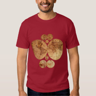 Antique World Map Historic Designs T-shirts