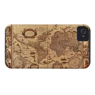 Antique World Map iPhone 4 Case