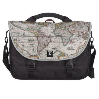 Antique World Map laptop bag