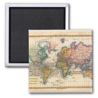 Antique World Map Magnet
