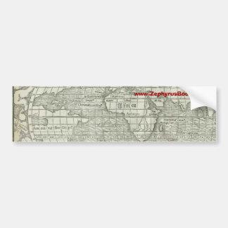 Antique World Map - Mid 1500's - Sebastian Münster Bumper Sticker