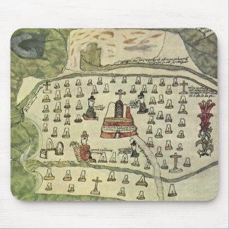 Antique World Map; Montezuma Aztec Empire, 1577 Mouse Pads