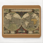 Antique World Map Mouse Pads