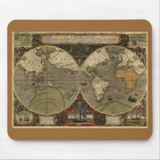 Antique World Map Mouse Pad