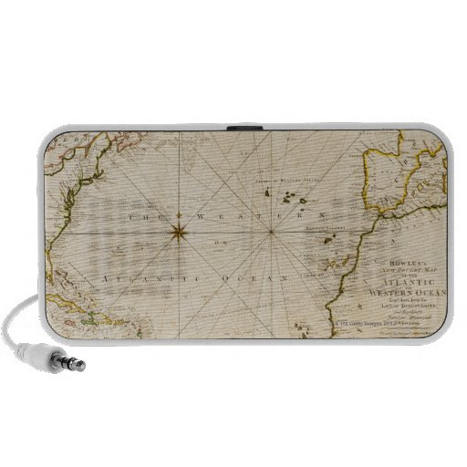 Antique world map notebook speakers