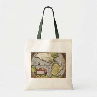 Antique World Map of the Americas, 1570 Canvas Bag