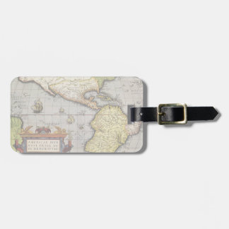 Antique World Map of the Americas, 1570 Luggage Tag