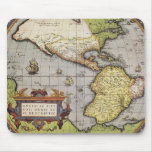 Antique World Map of the Americas, 1570 Mouse Pad