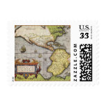 Antique World Map of the Americas, 1570 Postage Stamp
