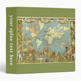Antique World Map of the British Empire, 1886 3 Ring Binder