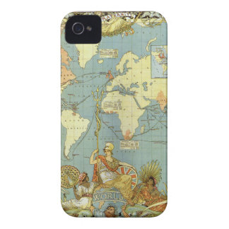 Antique World Map of the British Empire, 1886 iPhone 4 Cover