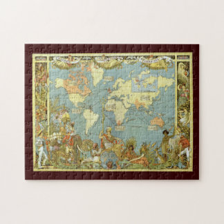 Antique World Map of the British Empire, 1886 Jigsaw Puzzle