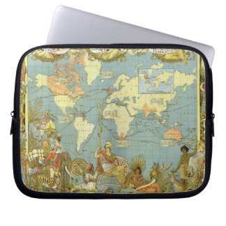Antique World Map of the British Empire, 1886 Laptop Sleeve