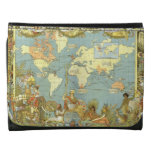 Antique World Map of the British Empire, 1886 Leather Wallets