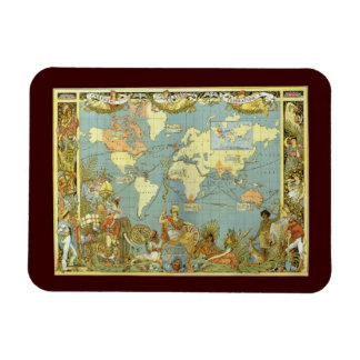 Antique World Map of the British Empire, 1886 Magnet