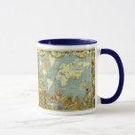 Antique World Map of the British Empire, 1886 Mug