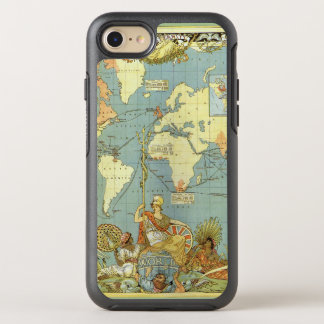 Antique World Map of the British Empire, 1886 OtterBox Symmetry iPhone 7 Case