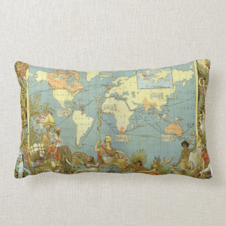 Antique World Map of the British Empire, 1886 Throw Pillow