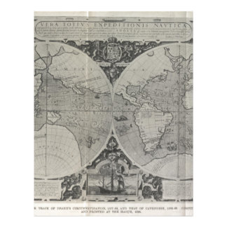 Antique World Map - Old maps of Asia Letterhead Template