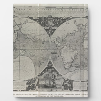 Antique World Map - Old maps of Asia Plaque