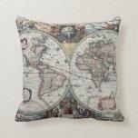 Antique World Map Pillow