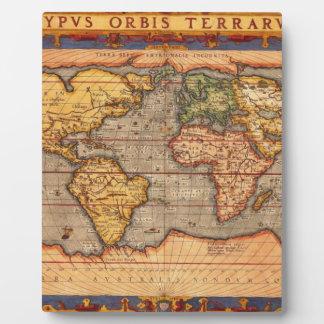 Antique World Map Plaques