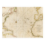 Antique world map post cards