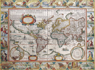 Antique World Map Puzzle.Antique World Map Jigsaw Puzzles Zazzle
