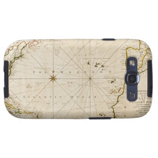 Antique world map samsung galaxy s3 cover