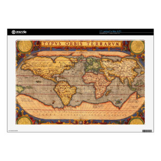 Antique World Map Skin For Laptop