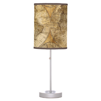 Antique World Map Table Lamp