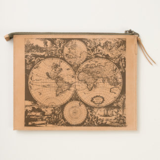 Antique World Map Travel Pouch